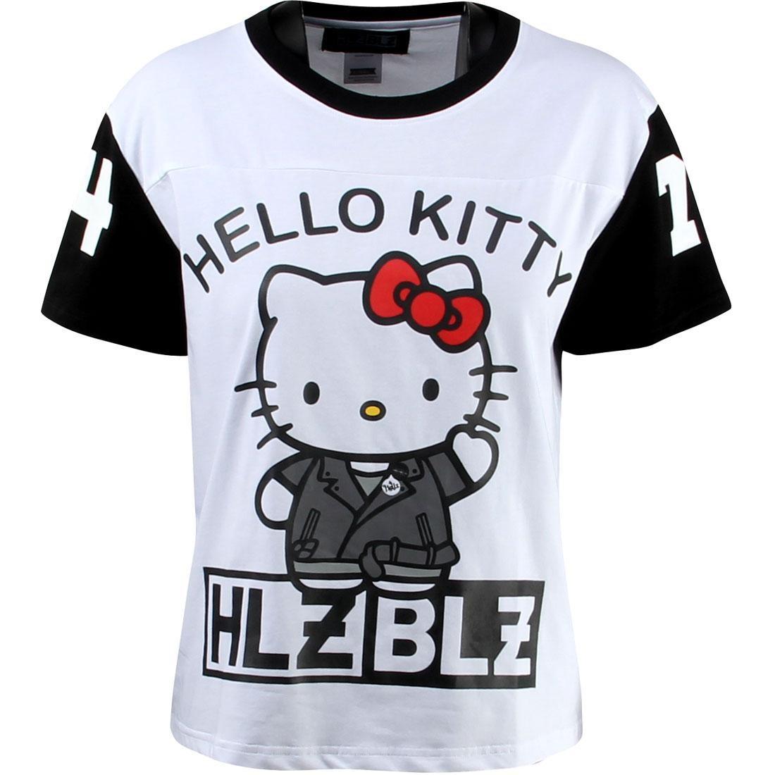 【海外限定】ジャージ トップス Tシャツ 【 HLZBLZ X HELLO KITTY WOMEN HI HELLZ JERSEY WHITE 】