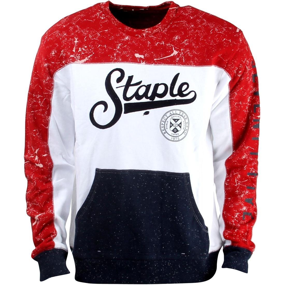 【スーパーセール中! 6/11深夜2時迄】メンズファッション トップス Tシャツ カットソー メンズ 【 Staple Maltese Crewneck Sweater (white) 】 White