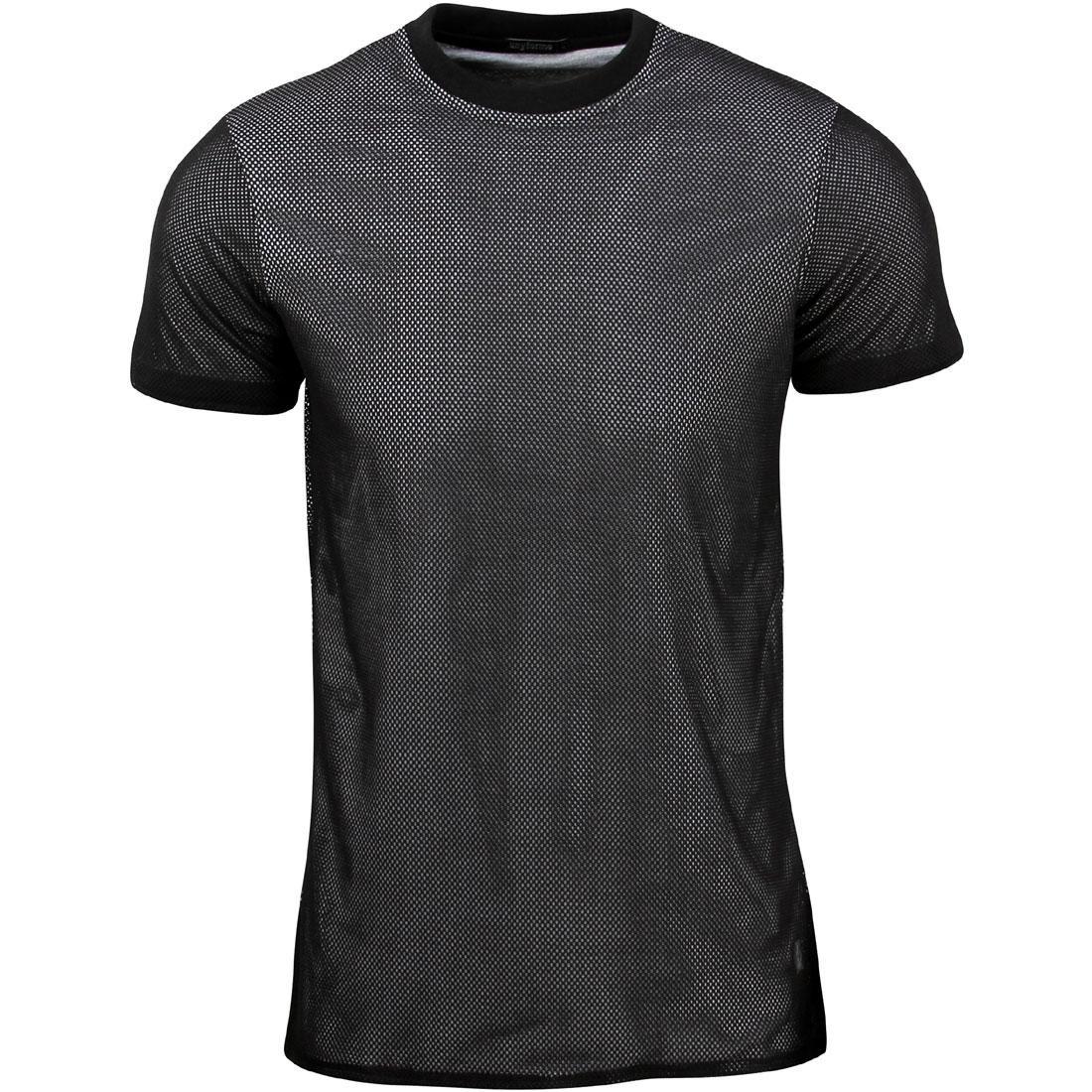 【海外限定】ニット Tシャツ メンズファッション【 TEE UNYFORME MEN HOLY KNIT MEN Tシャツ TEE BLACK】, インクモール:12889226 --- officewill.xsrv.jp