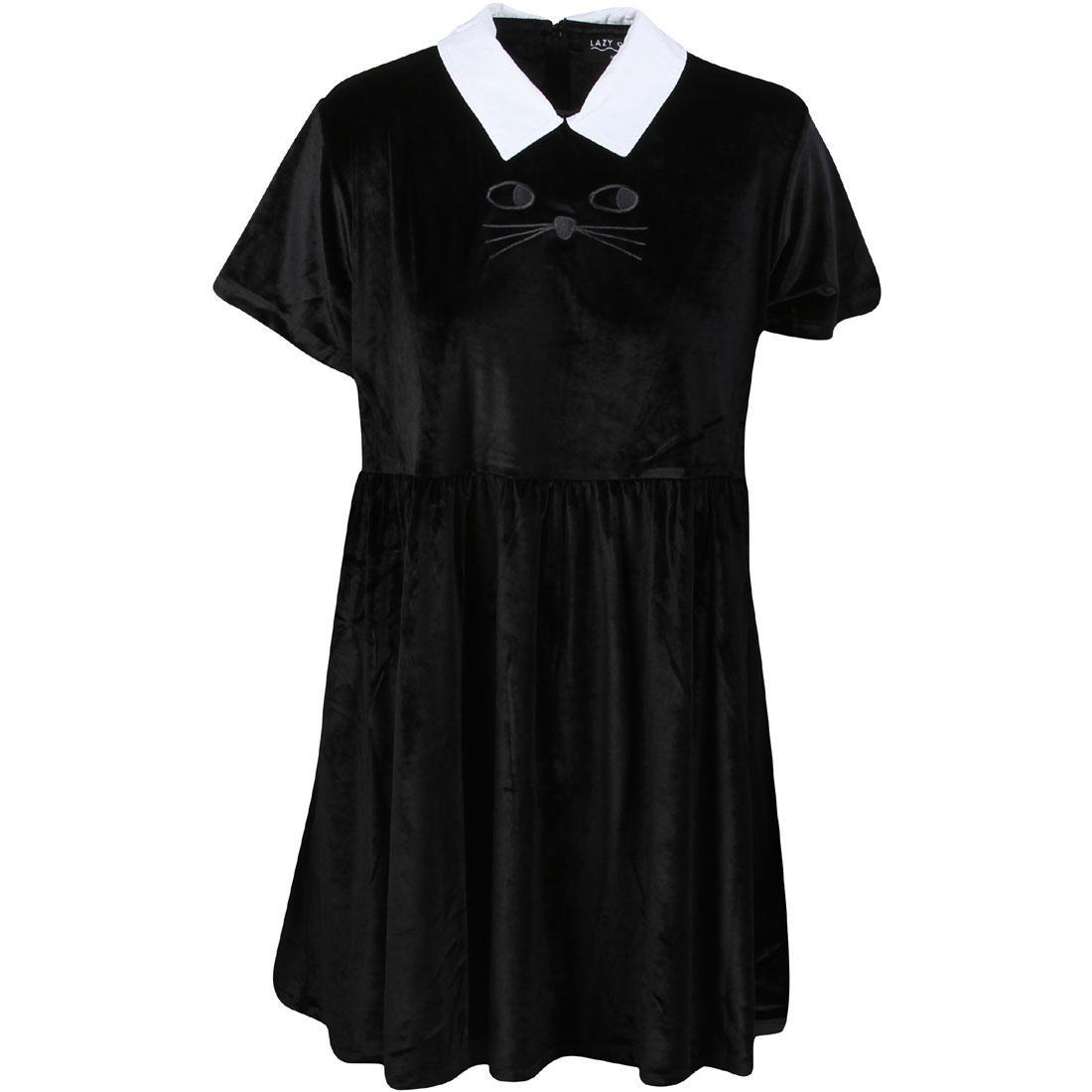 ドレス 【 LAZY OAF WOMEN CAT COLLAR DRESS BLACK 】 レディースファッション ワンピース