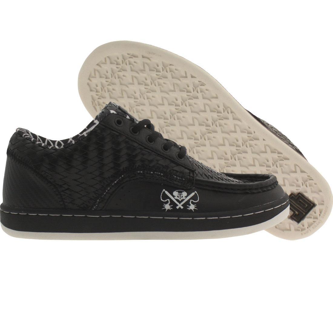 【海外限定】メンズ靴 靴 【 JB CLASSICS SDM LOW MACE BLACK HERRINGBONE WHITE 】