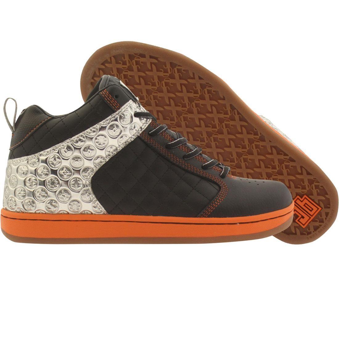 【海外限定】黒 ブラック スニーカー メンズ靴 【 BLACK JB CLASSICS PEDDLER MIDS CHROMEO INK MIRROR ORANGE 】