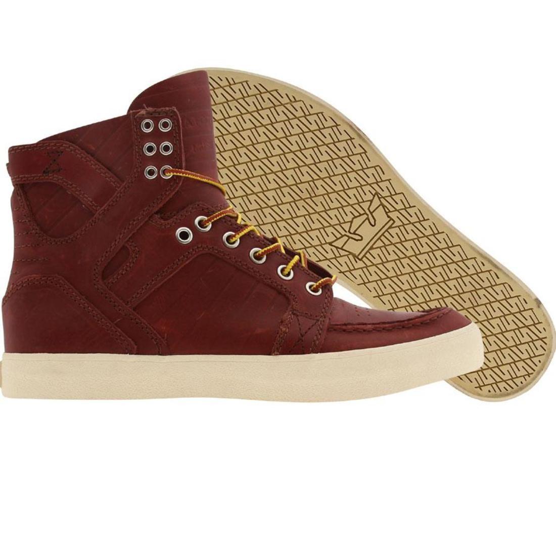 【海外限定】スープラ スカイモック PYS.COM 靴 メンズ靴 【 SUPRA X SKYMOC BURGUNDY COLLAB 】