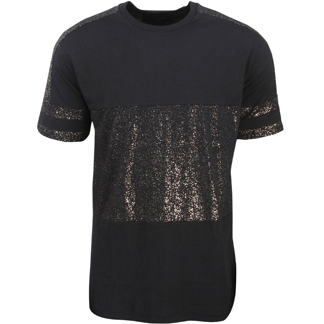 Tシャツ メンズファッション トップス カットソー メンズ 【 Zanerobe Men Montage Lineback Tee (black / Gold) 】 Black / Gold