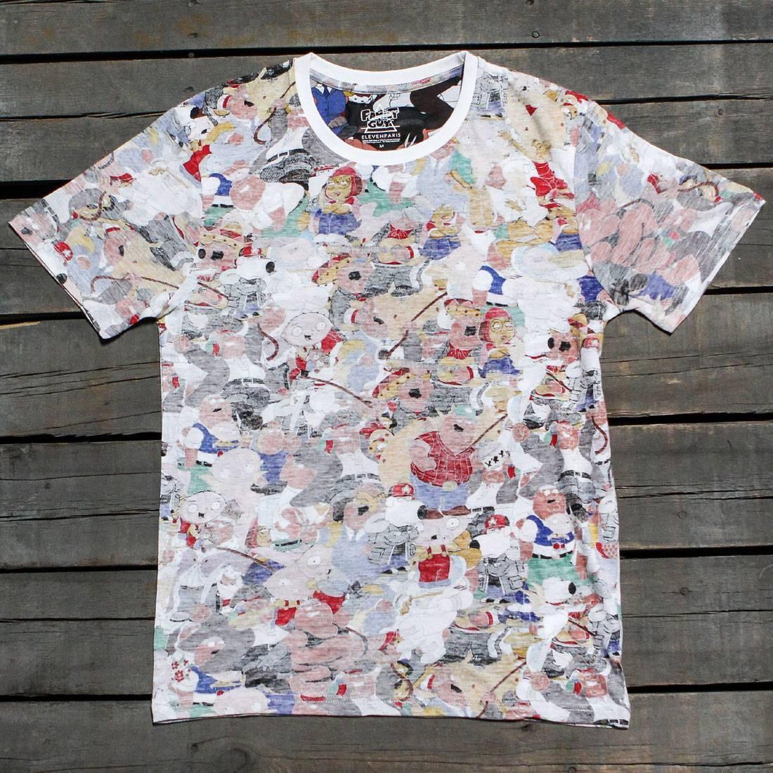 【海外限定】Tシャツ メンズファッション トップス 【 ELEVEN PARIS X FAMILY GUY MEN COLLAGE TEE WHITE ALL OVER PRINT 】【送料無料】