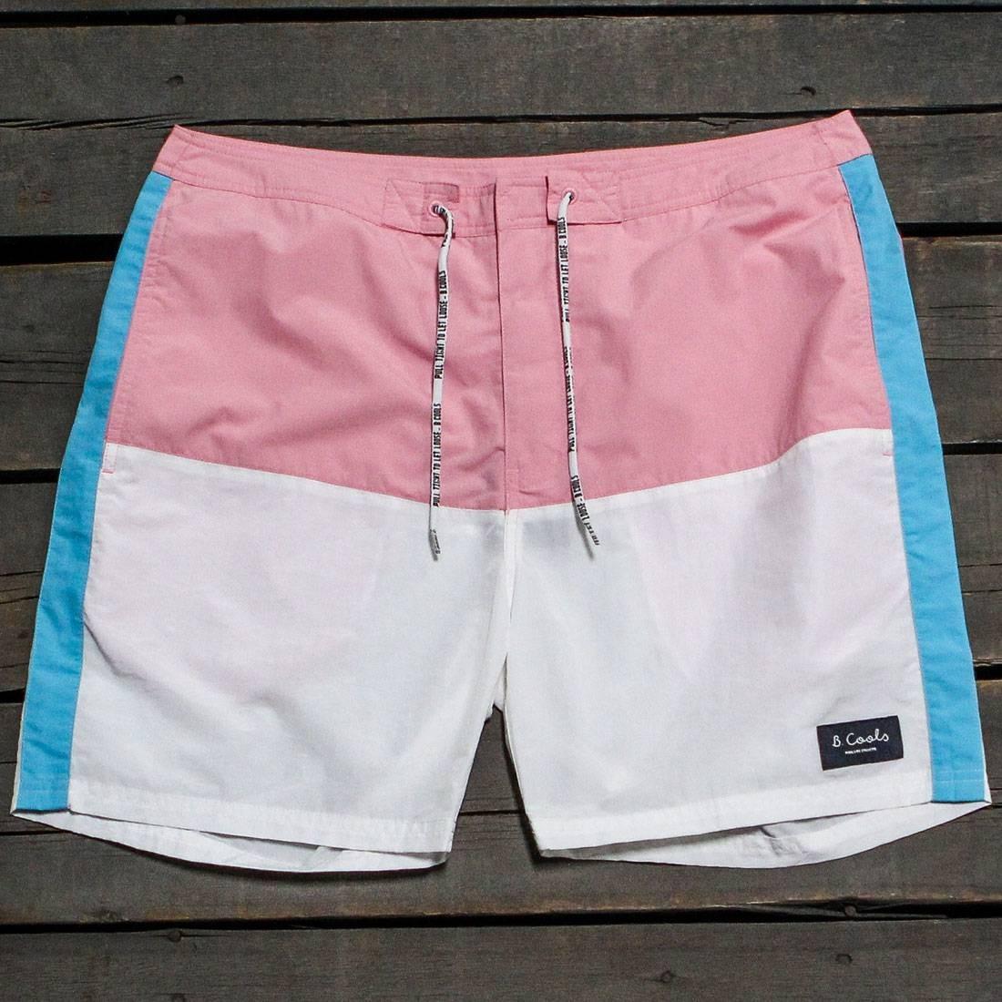 【海外限定】クラシック ショーツ ハーフパンツ 白 ホワイト メンズファッション ズボン 【 WHITE BARNEY COOLS MEN CLASSIC 17 SHORTS PINK BLUE 】
