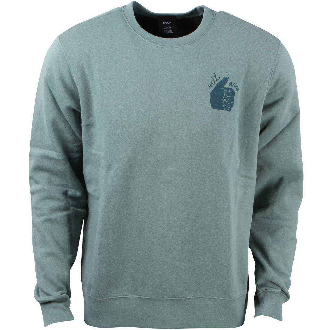 ルーカ 【 RVCA MEN WELL DONE SWEATER GREEN SAGE LEAF 】 メンズファッション トップス Tシャツ カットソー