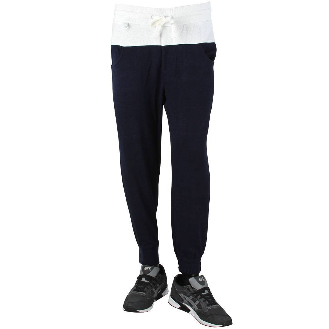ワッフル 紺 ネイビー 【 NAVY CLOT MEN WAFFLE SWEATPANTS 】 メンズファッション ズボン パンツ