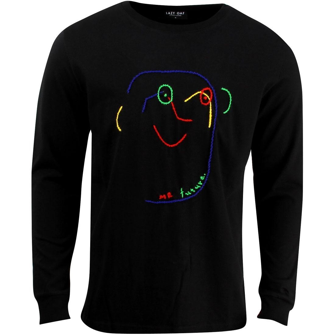 【スーパーセール中! 6/11深夜2時迄】メンズファッション トップス Tシャツ カットソー メンズ 【 Lazy Oaf Mr Future Sweater (black) 】 Black
