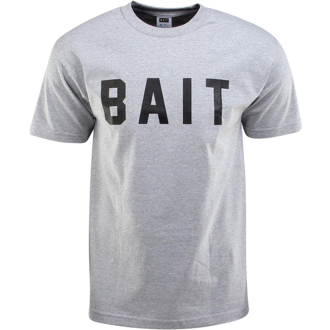 ロゴ Tシャツ ヘザー 灰色 グレー グレイ 【 HEATHER GRAY BAIT LOGO TEE BLACK 】 メンズファッション トップス カットソー 送料無料
