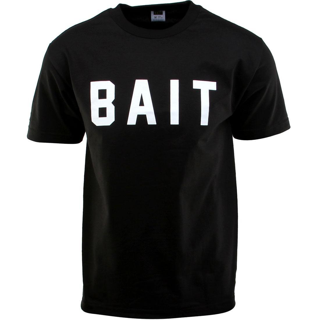 ベイト BAIT ロゴ Tシャツ 黒 ブラック 白 ホワイト 【 BLACK WHITE BAIT LOGO TEE 】 メンズファッション トップス Tシャツ カットソー