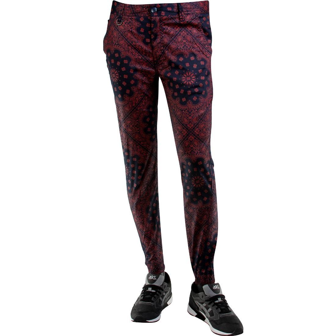 パブリッシュ ジョガーパンツ メンズファッション ズボン パンツ メンズ 【 Publish Banwell Paisley Bandana Pattern Jogger Pants (navy) 】 Navy