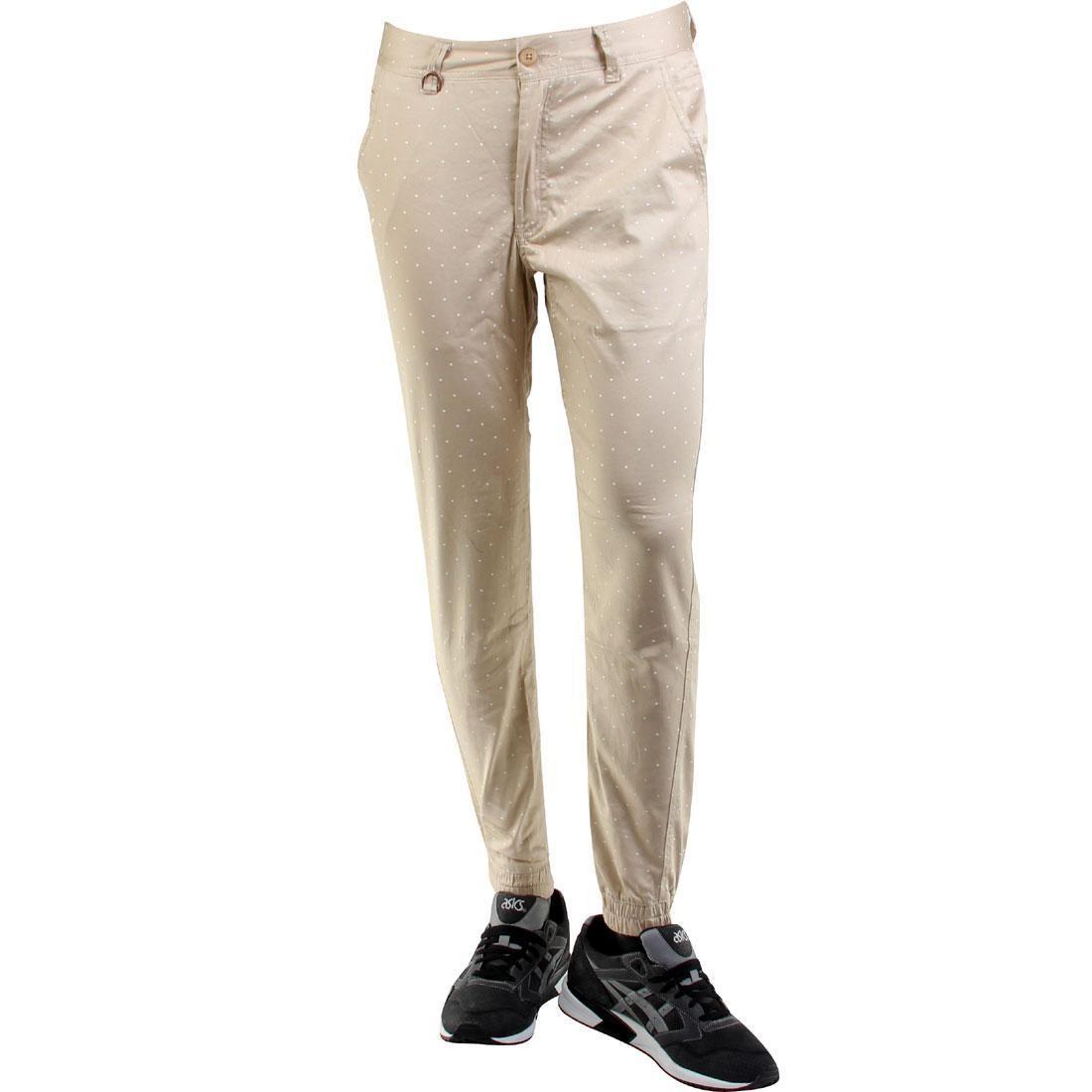 パブリッシュ ジョガーパンツ 【 PUBLISH NATO 3M POLKADOTA PRINTED JOGGER PANTS TAN 】 メンズファッション ズボン パンツ