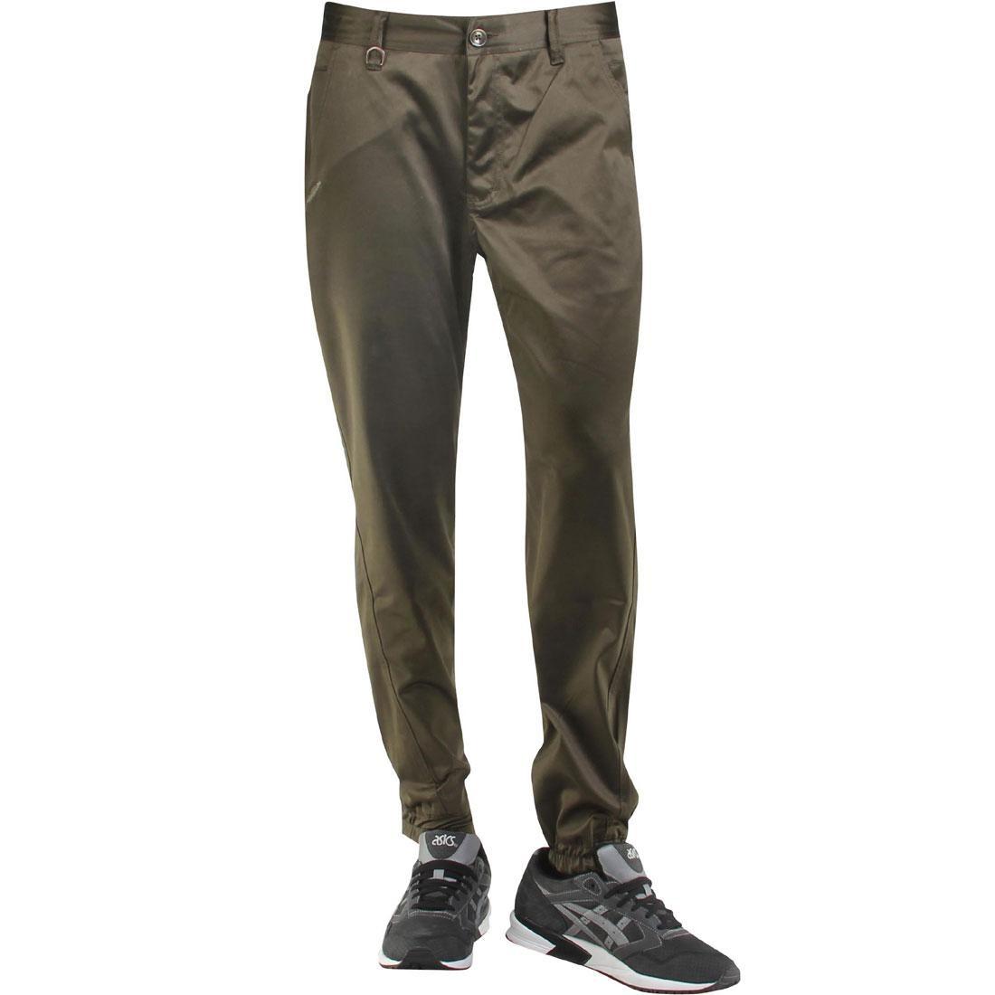 パブリッシュ サテン ジョガーパンツ オリーブ 【 OLIVE PUBLISH LANDIS SATIN TWILL JOGGER PANTS 】 メンズファッション ズボン パンツ