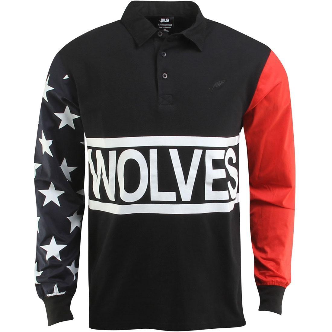 【海外限定】パブリッシュ スリーブ Tシャツ トップス メンズファッション 【 SLEEVE PUBLISH X RBW BYRAM RUGBY LONG TEE BLACK 】