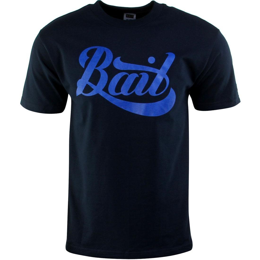 ベイト BAIT スクリプト ロゴ Tシャツ 紺 ネイビー 青 ブルー 【 NAVY BLUE BAIT SCRIPT LOGO TEE 】 メンズファッション トップス Tシャツ カットソー