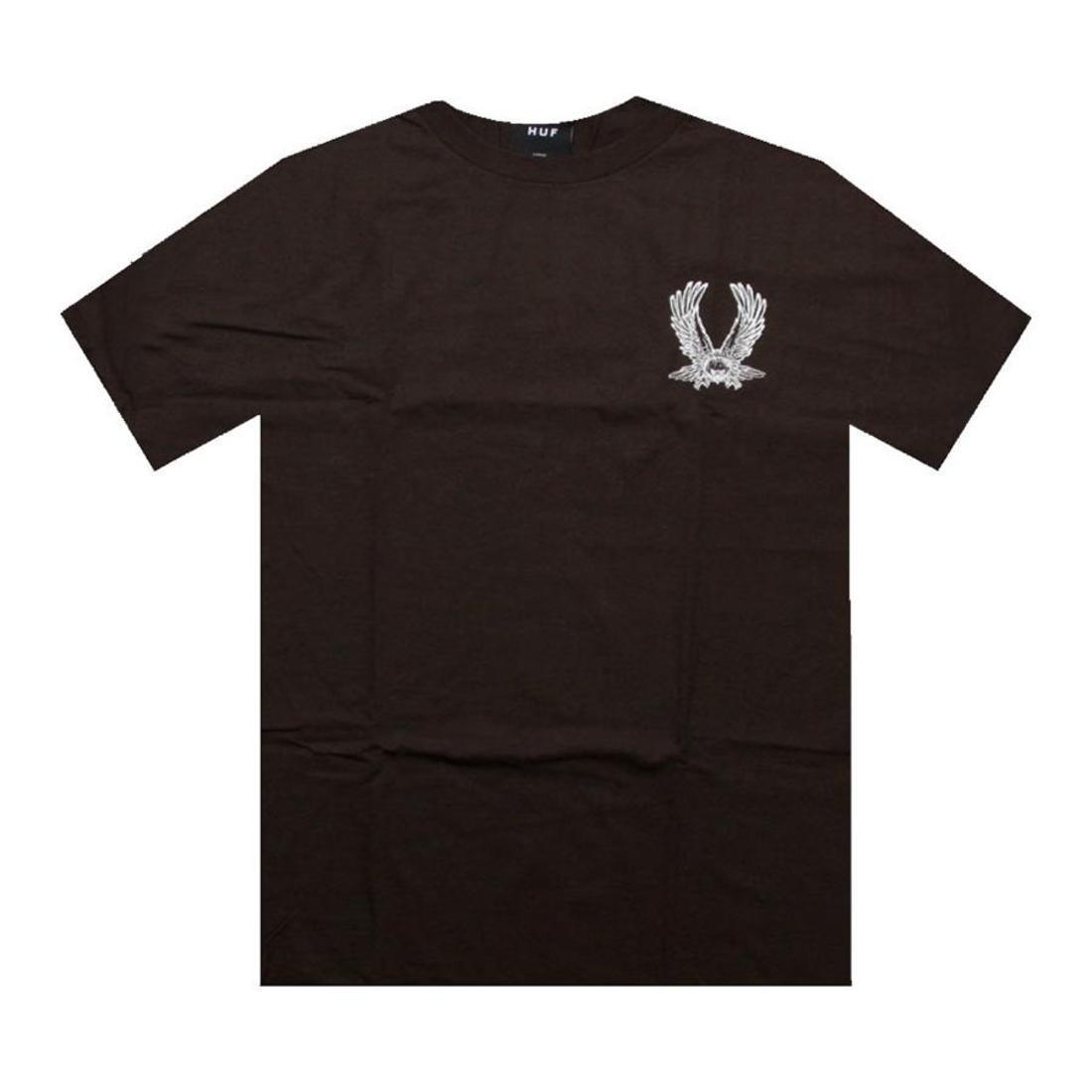 HUF ハフ フライト Tシャツ 茶 ブラウン 【 HUF FLIGHT BROWN TEE 】 メンズファッション トップス Tシャツ カットソー