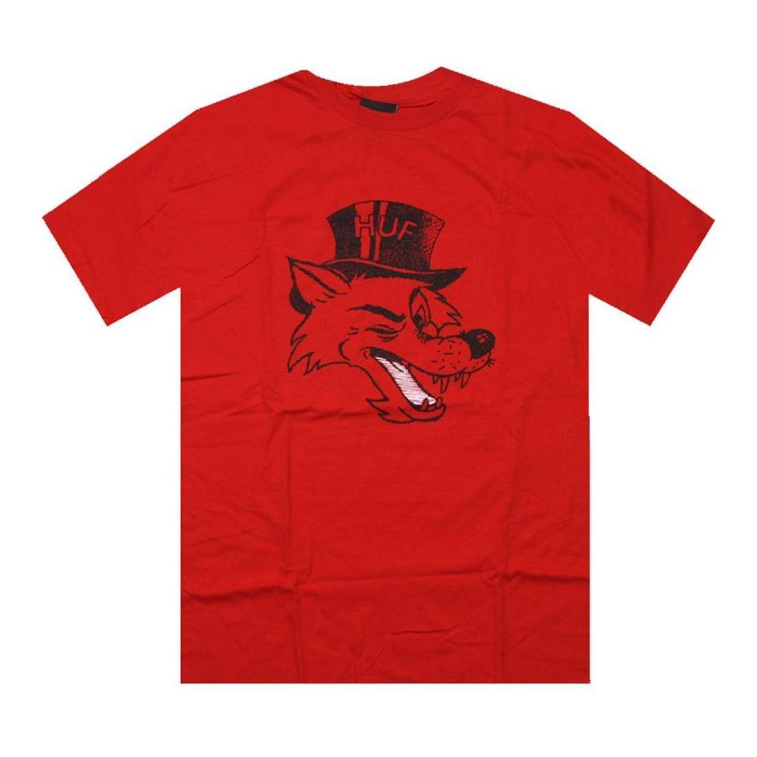 HUF ハフ Tシャツ 赤 レッド 【 HUF RED BIG BAD TEE 】 メンズファッション トップス Tシャツ カットソー