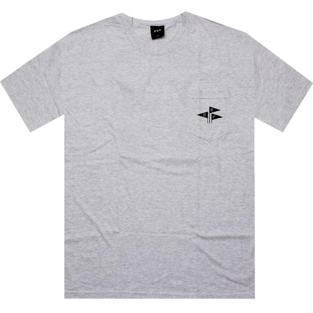 HUF ハフ Tシャツ 【 HUF DBC FLAGS TEE ASH 】 メンズファッション トップス Tシャツ カットソー