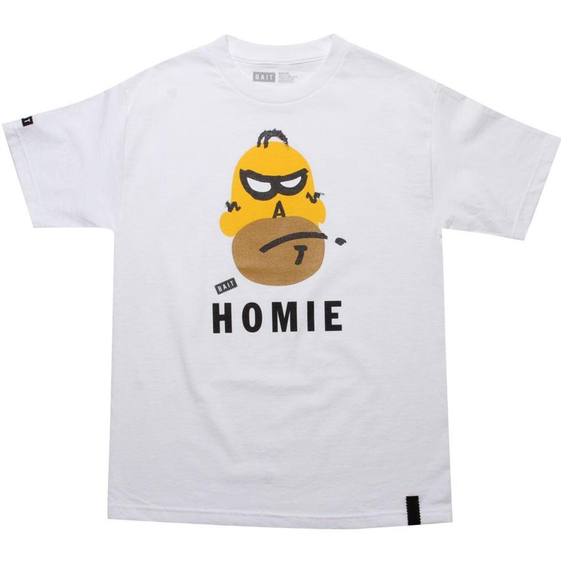 Tシャツ 【 BAIT HOMIE TEE WHITE 】 メンズファッション トップス カットソー 送料無料