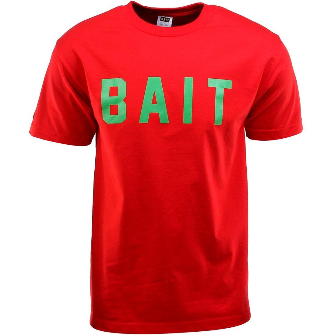 ロゴ Tシャツ 【 BAIT LOGO TEE RED GREEN 】 メンズファッション トップス カットソー 送料無料