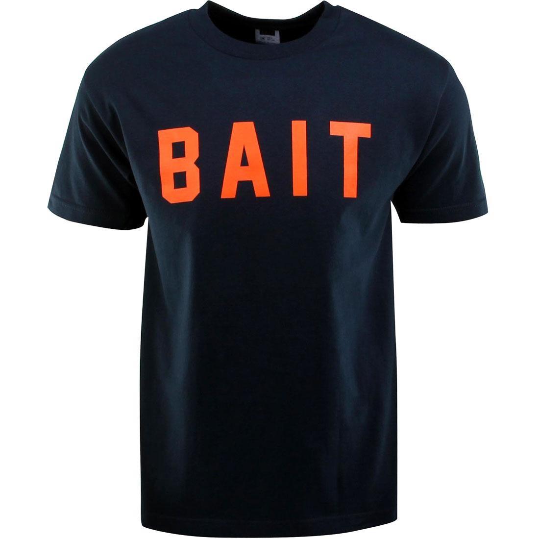 ベイト BAIT ロゴ Tシャツ 紺 ネイビー 橙 オレンジ 【 NAVY ORANGE BAIT LOGO TEE 】 メンズファッション トップス Tシャツ カットソー