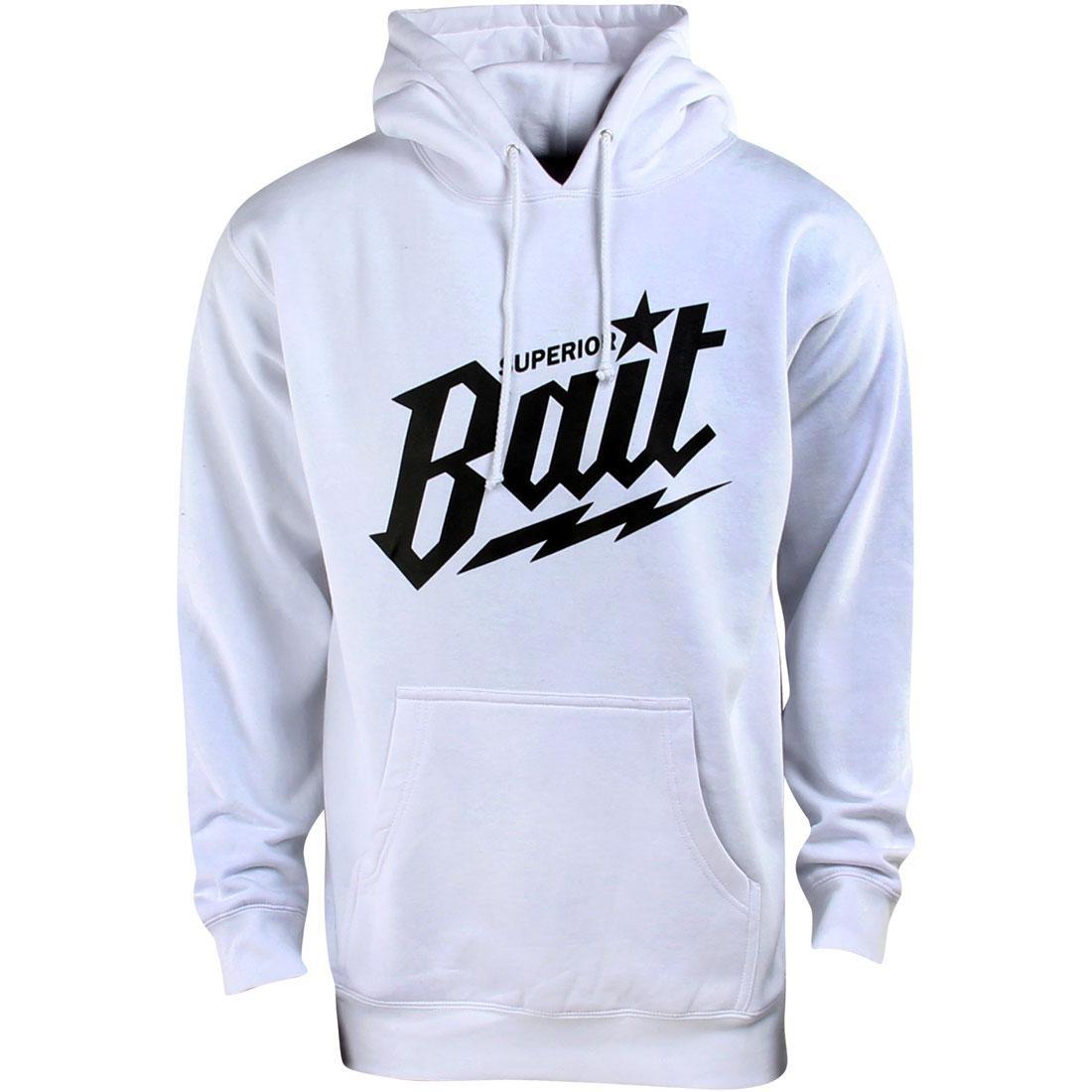 【海外限定】フーディー パーカー トップス 【 BAIT SUPERIOR HOODY WHITE BLACK 】
