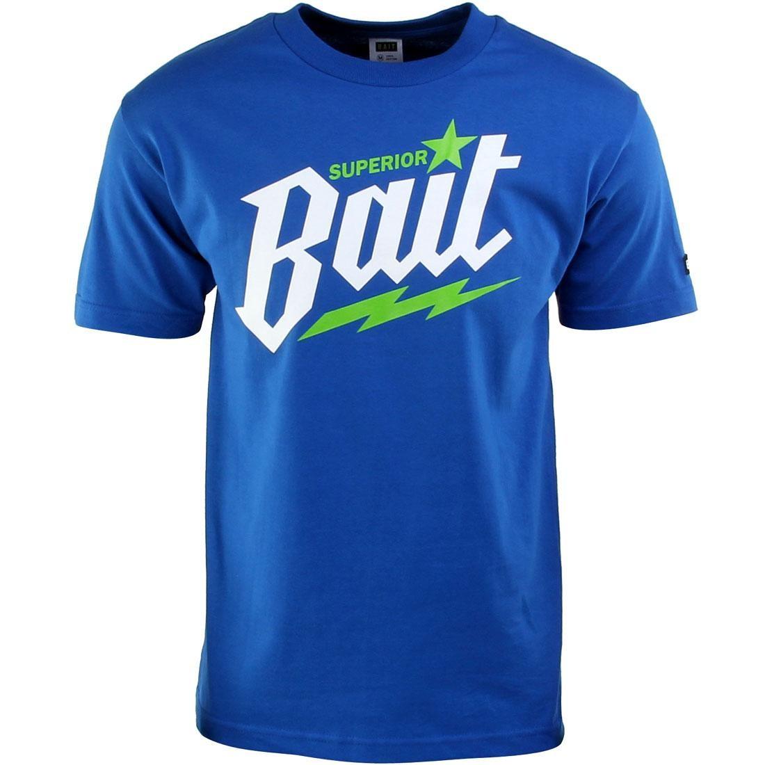 Tシャツ 青 ブルー 白 ホワイト 【 BLUE WHITE BAIT SUPERIOR TEE ROYAL GREEN 】 メンズファッション トップス カットソー 送料無料