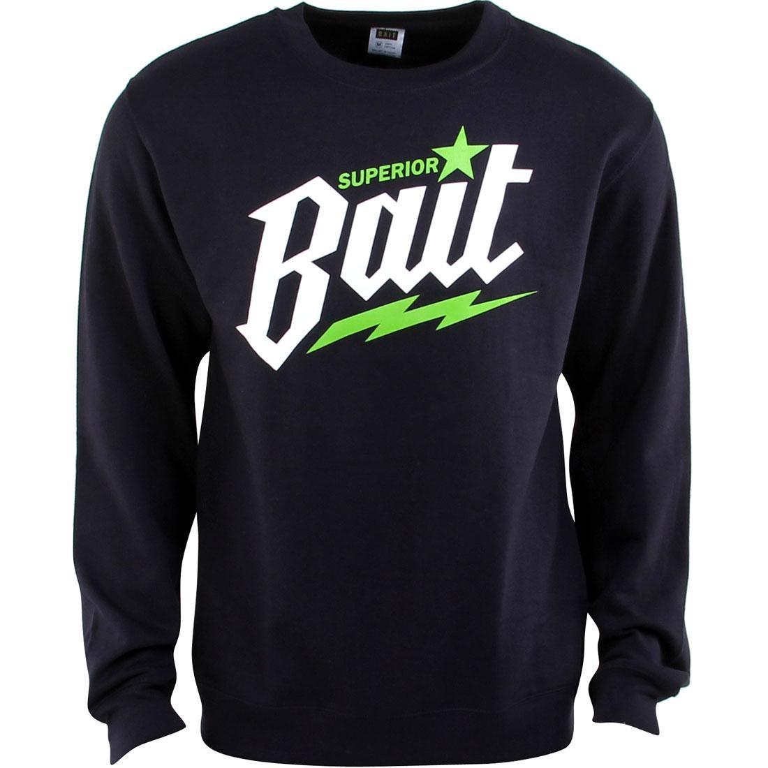 【海外限定】白 ホワイト トップス Tシャツ 【 WHITE BAIT SUPERIOR CREWNECK NAVY GREEN 】