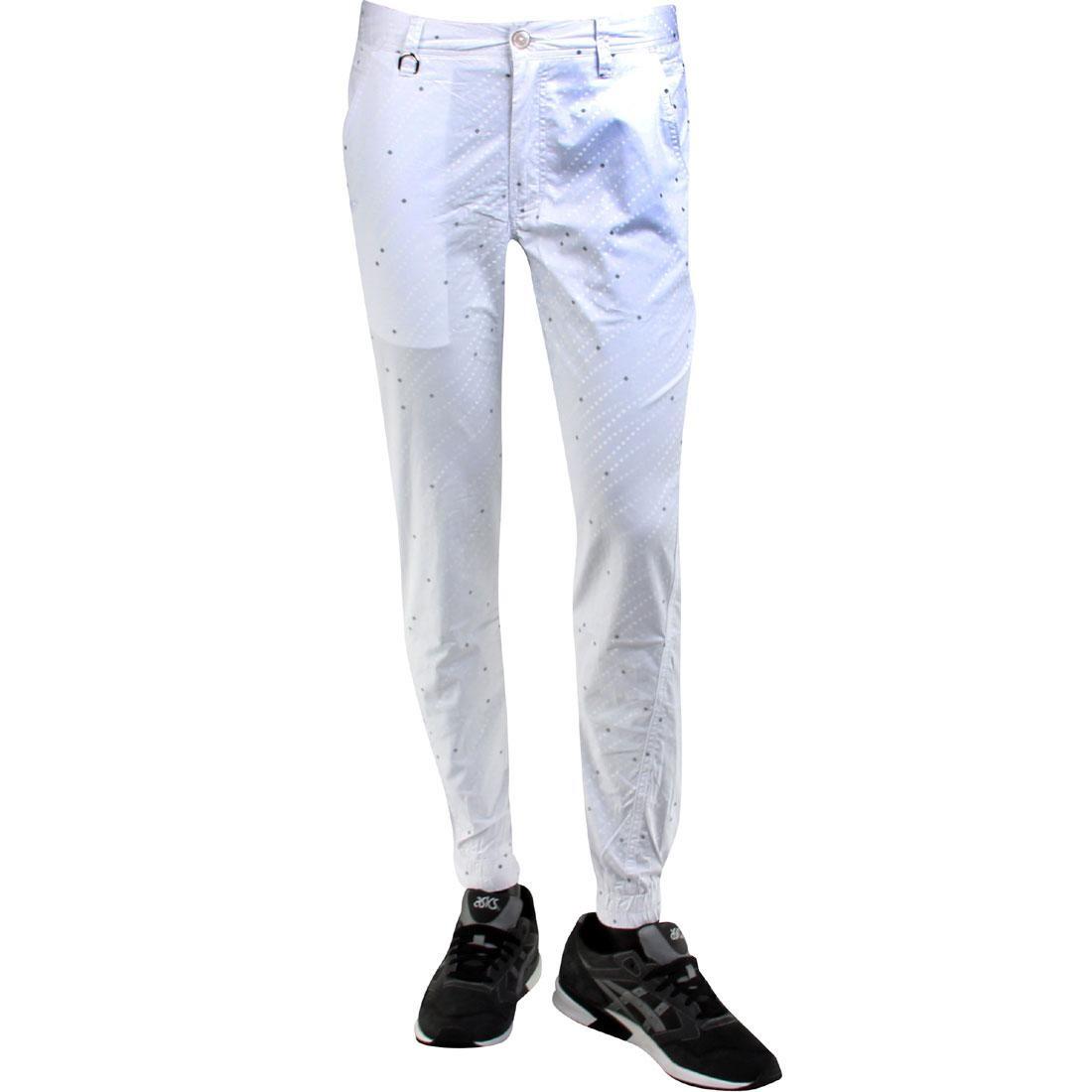 【海外限定】パブリッシュ ズボン メンズファッション 【 PUBLISH FLOYD 3M GRADIENT SQUARES JOGGER PANTS WHITE 】