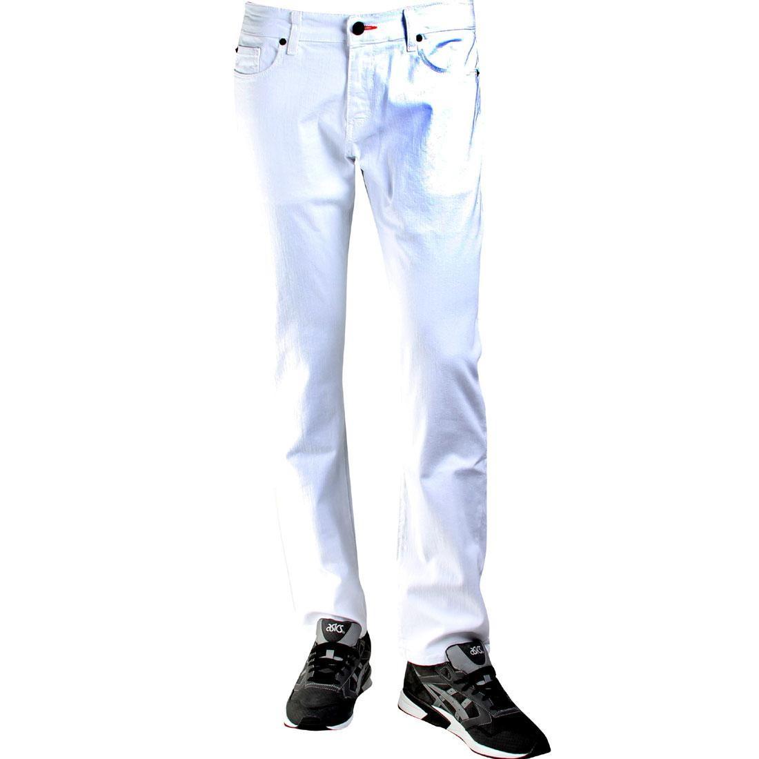 【海外限定】スタンダード パンツ メンズファッション 【 STANDARD BLKWD THE JEANS WHITE 】