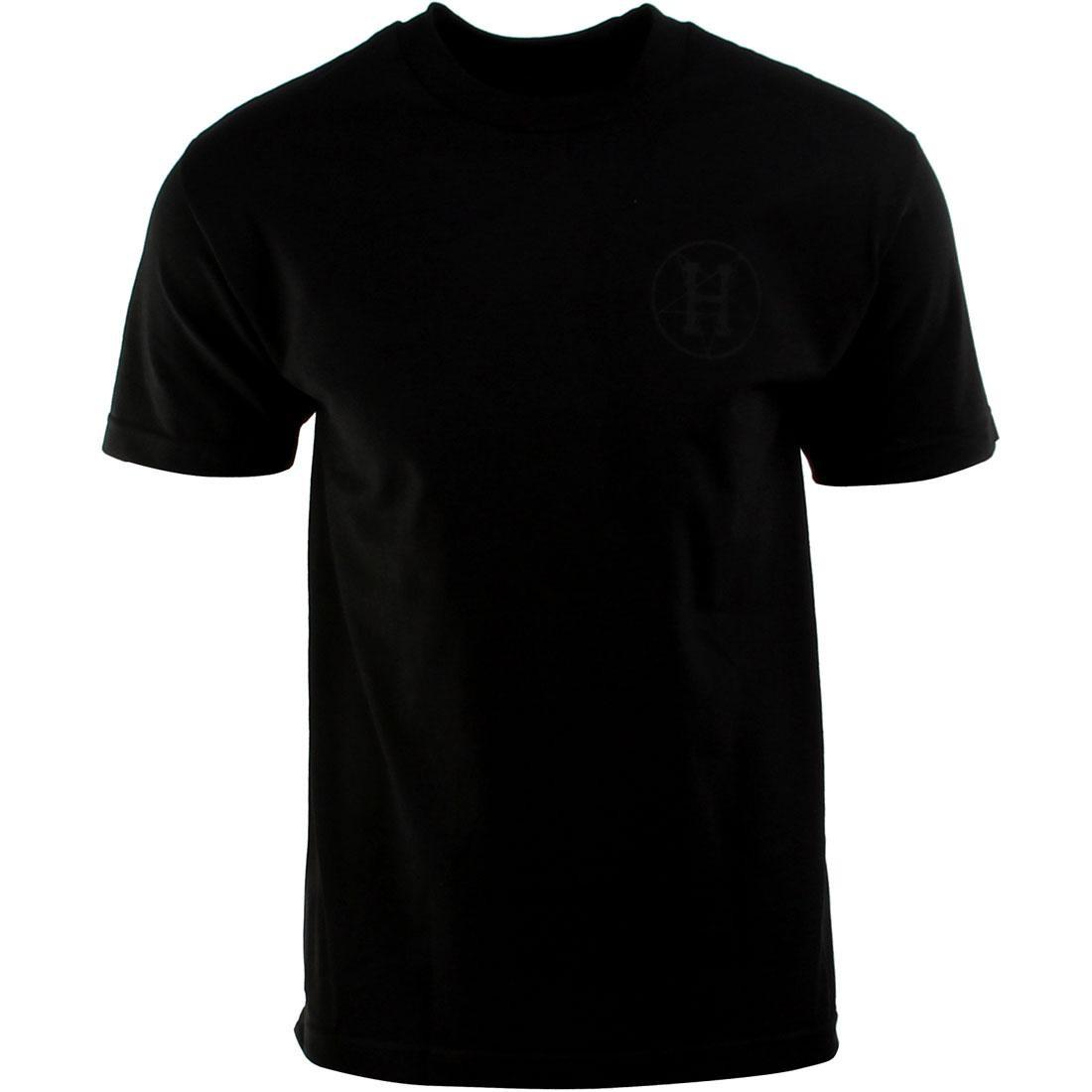 HUF ハフ 黒 ブラック Tシャツ 【 HUF BLACK X SCALE QUEEN TEE 】 メンズファッション トップス Tシャツ カットソー