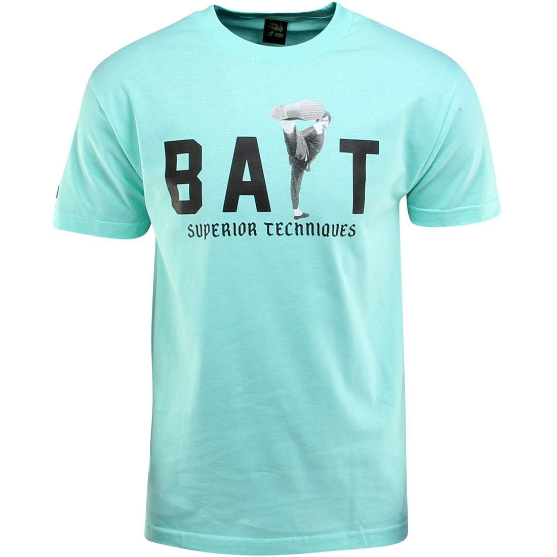 【海外限定】ハイ キック Tシャツ メンズファッション トップス 【 BAIT X BRUCE LEE HIGH KICK TEE TEAL CELADON BLACK 】