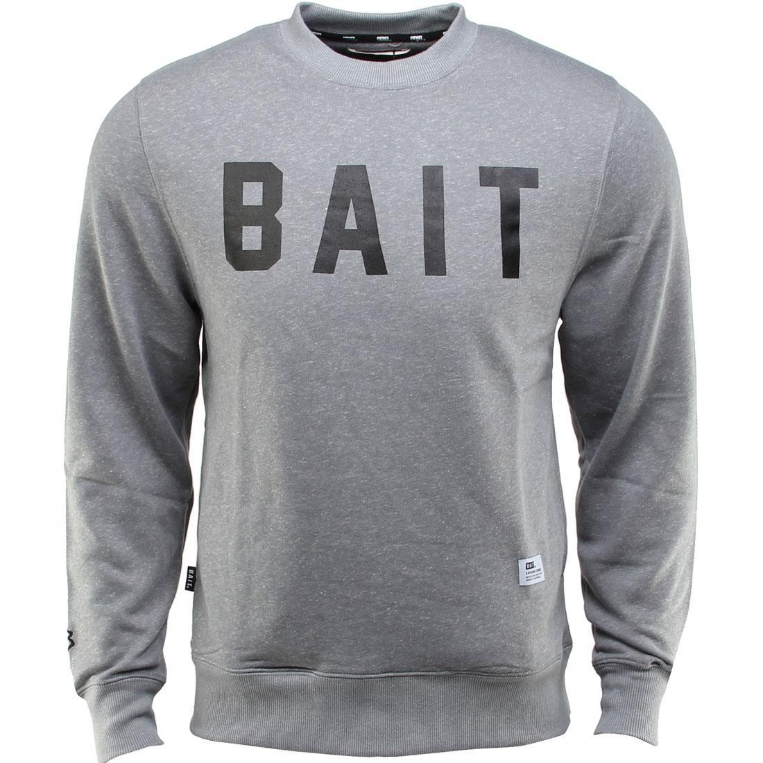 ベイト BAIT 灰色 グレー グレイ 【 GRAY BAIT INVISIBLE POCKETS FITTED CREWNECK 】 メンズファッション トップス Tシャツ カットソー