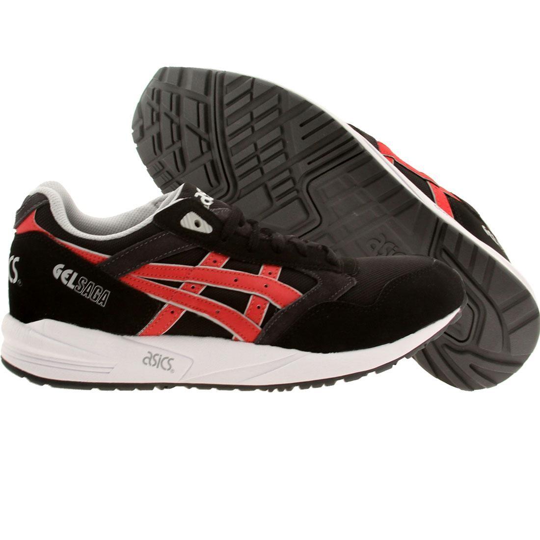 【海外限定】アシックス メンズ靴 スニーカー 【 ASICS TIGER MEN GELSAGA BLACK BURGUNDY 】
