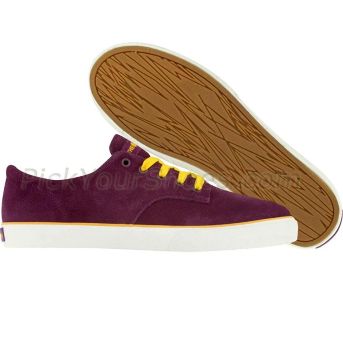 ジョンソン スニーカー メンズ 【 The Hundreds Johnson Low (purple / Gold / White) 】 Purple / Gold / White