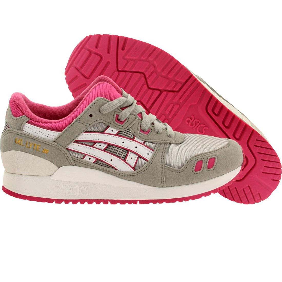 【海外限定】アシックス GRAY灰色 グレイ スニーカー 靴 【 ASICS GREY TIGER BIG KIDS GEL LYTE III GS GRAY LIGHT WHITE 】