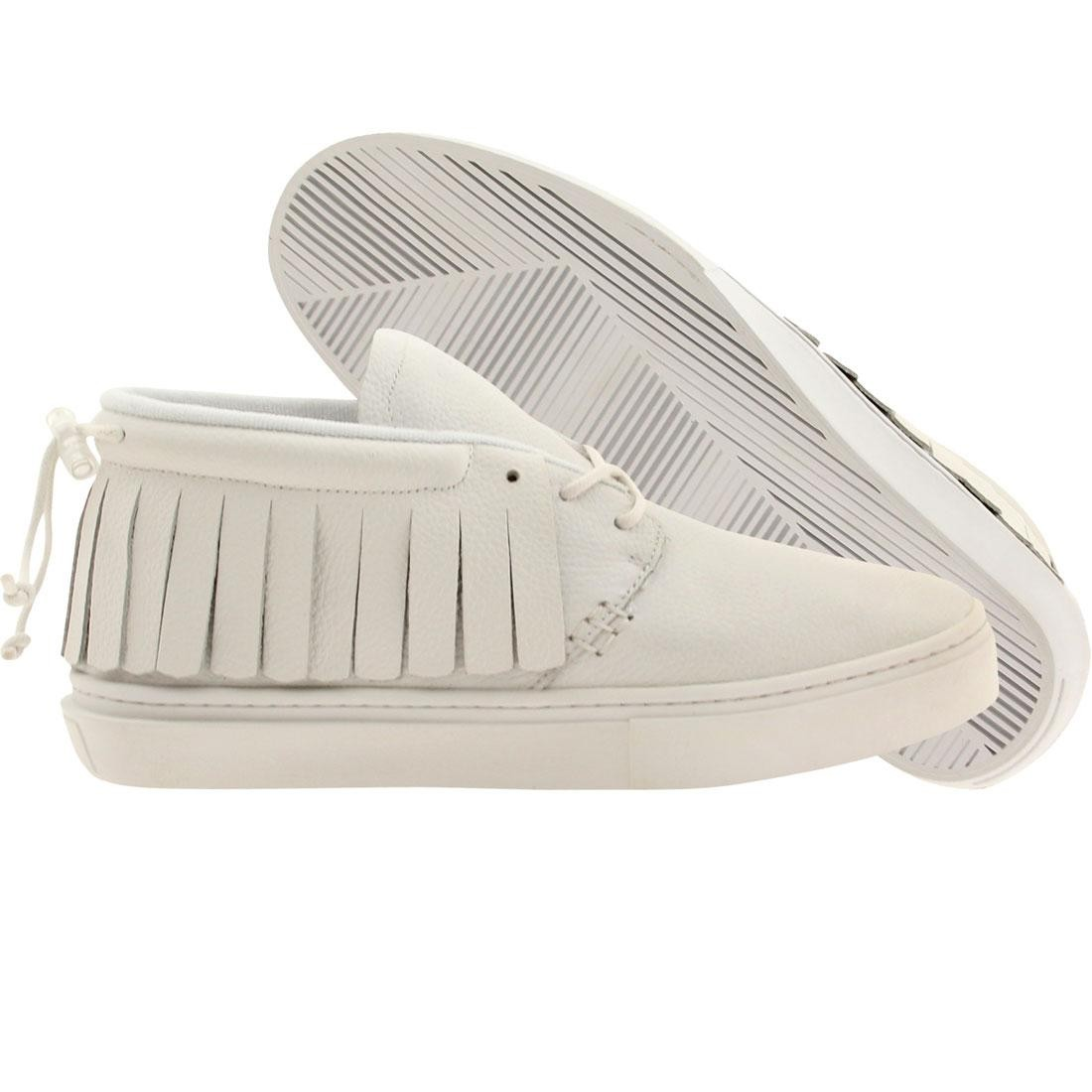 ミッド スニーカー メンズ 【 Clear Weather Men The One-o-one Mid Top (white / Tumbled Calfskin) 】 White / Tumbled Calfskin