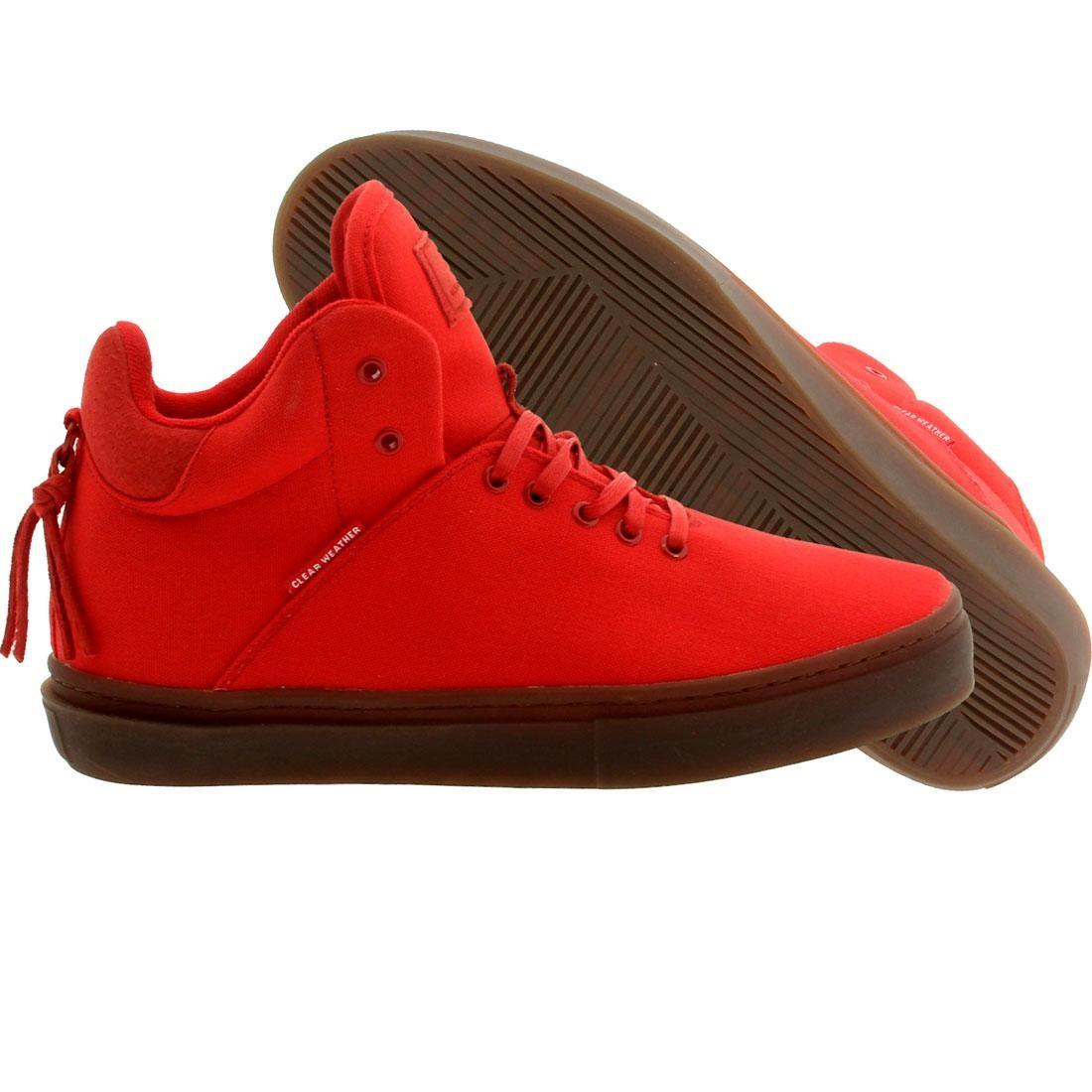 【海外限定】ミッド スニーカー メンズ靴 【 CLEAR WEATHER MEN THE ONETEN MID TOP RED 】