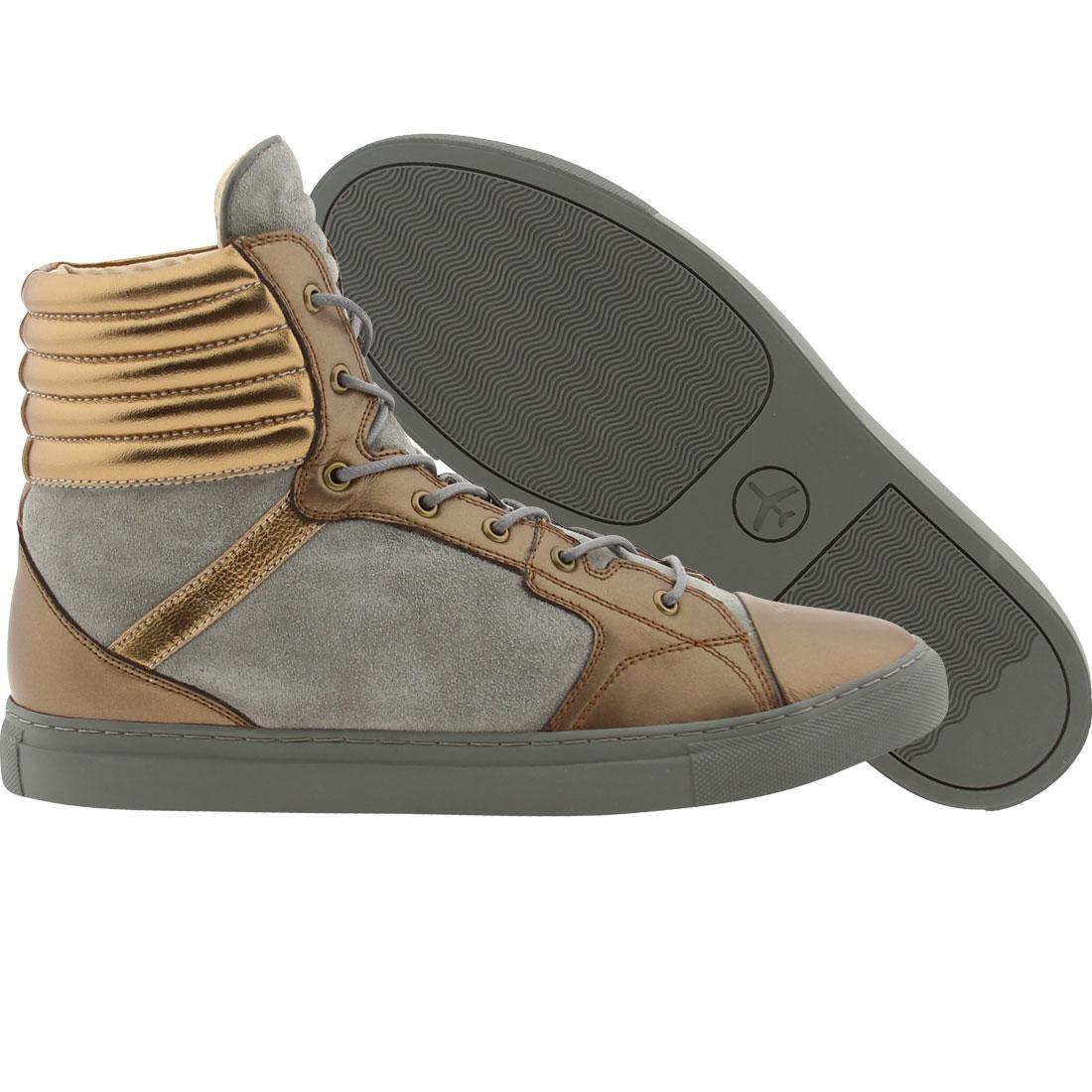 【海外限定】銅 ブロンズ スニーカー 靴 【 PASSPORT PIAZZA BRONZE GREY 】