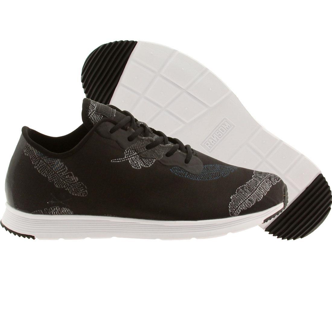 【海外限定】ランサム フィールド ライト 黒 ブラック 靴 スニーカー 【 FIELD BLACK RANSOM MEN LITE FEATHER WHITE 】
