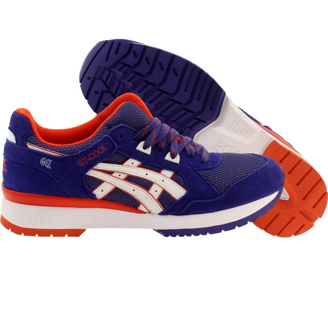 【海外限定】アシックス 青 ブルー メンズ靴 靴 【 ASICS BLUE TIGER MEN GTCOOL DARK WHITE 】