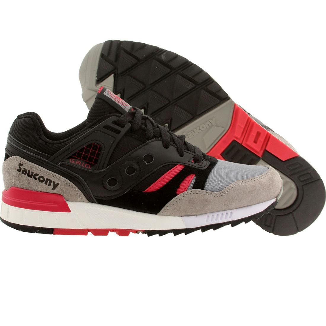 【海外限定】サッカニー スニーカー 靴 【 SAUCONY MEN GRID SD GAMES PACK BLACK GRAY 】