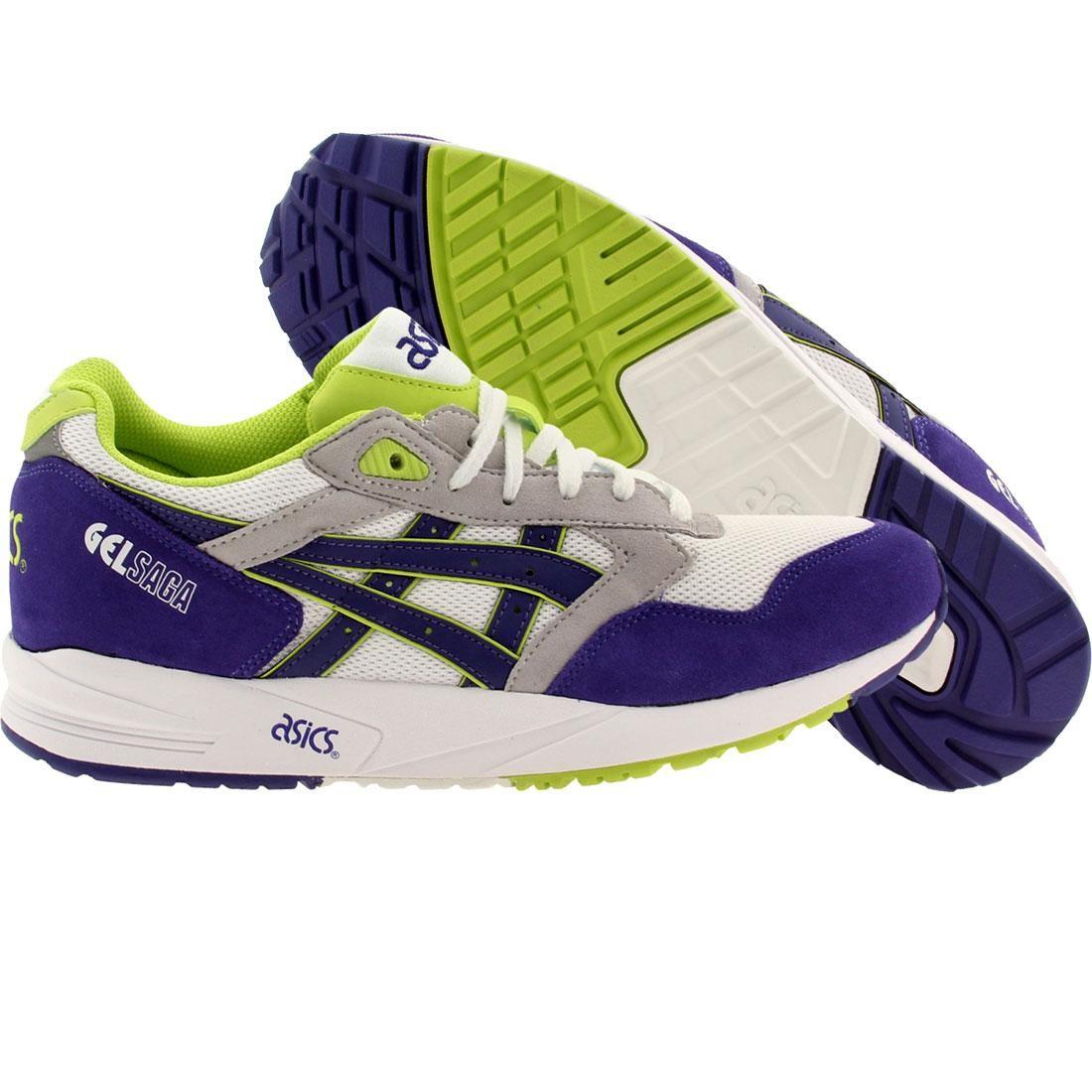【海外限定】アシックス 靴 メンズ靴 【 ASICS TIGER MEN GEL SAGA WHITE DARK BLUE 】