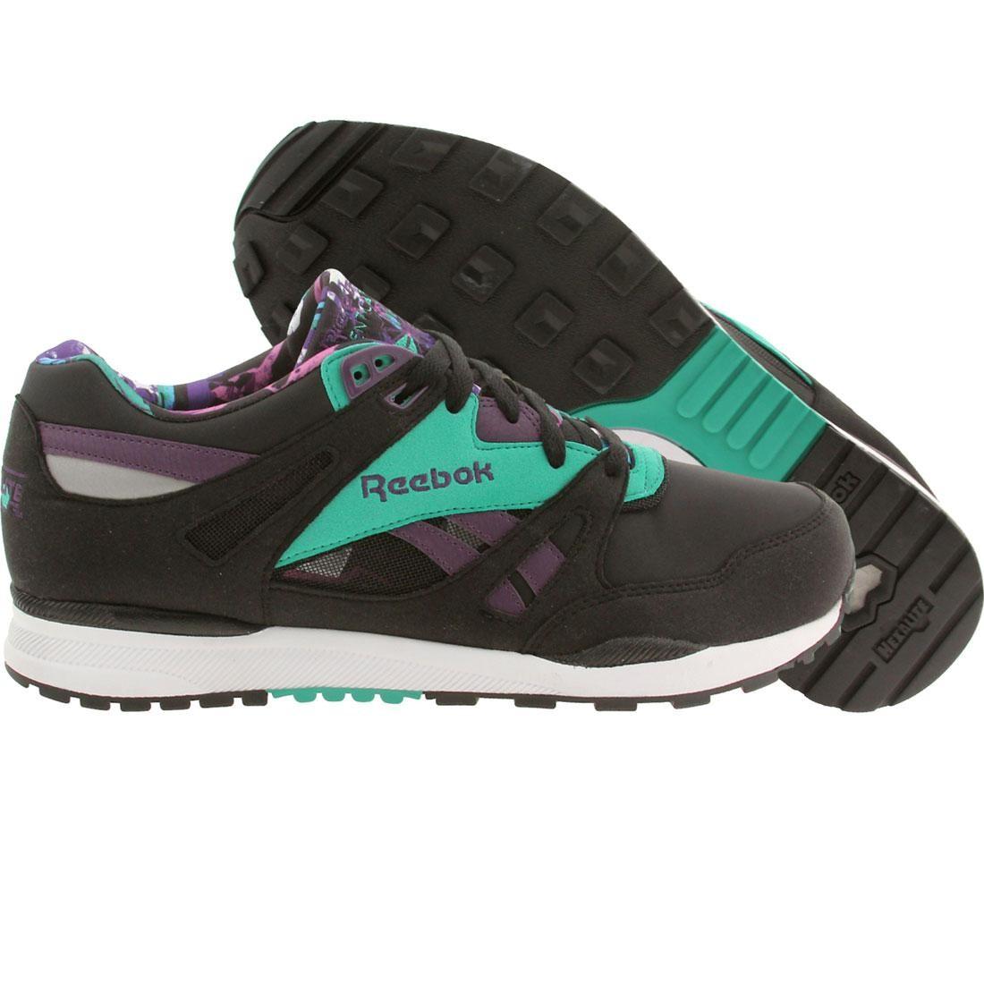 【海外限定】リーボック 紫 パープル スニーカー 靴 【 REEBOK PURPLE MEN VENTILATOR WB BLACK TEAL 】