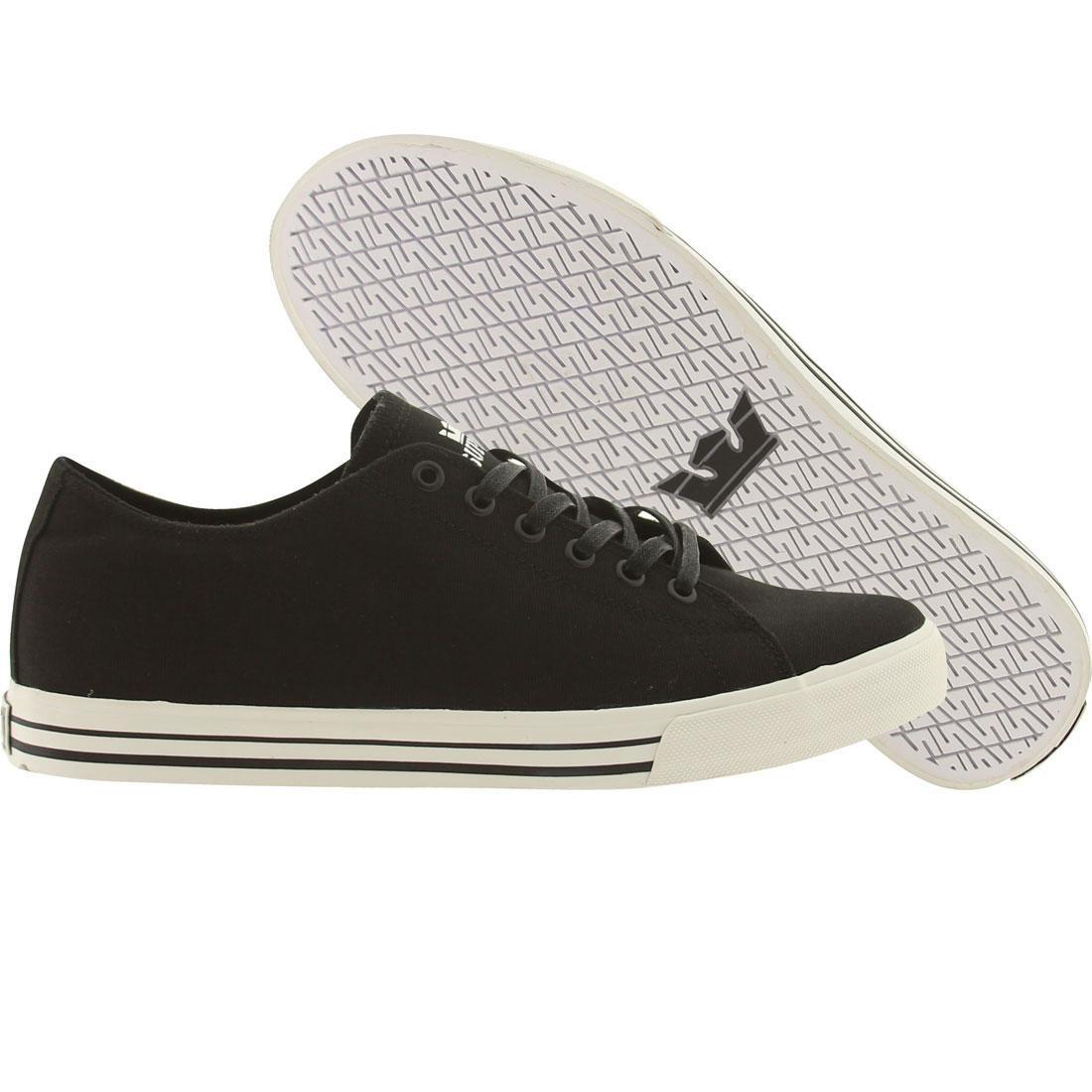 【海外限定】スープラ サンダー 靴 スニーカー 【 SUPRA THUNDER LOW BLACK CANVAS 】
