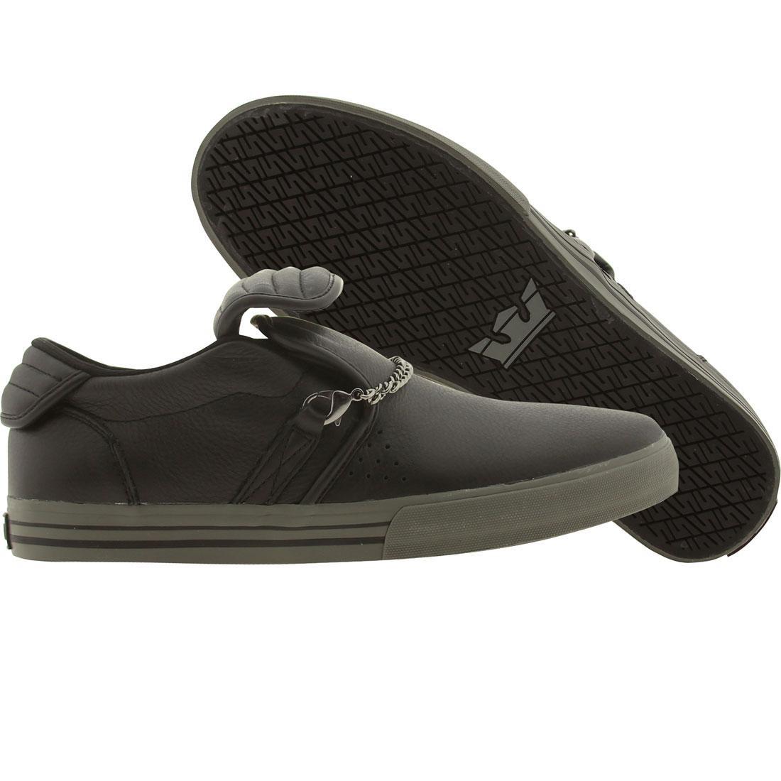 【海外限定】スープラ キューバン 靴 メンズ靴 【 SUPRA CUBAN BLACK GREY 】