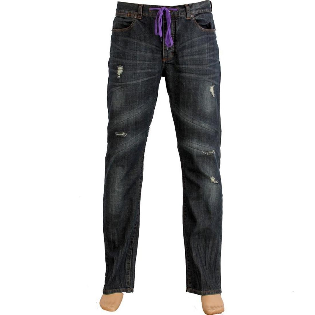 青 ブルー 【 BLUE KR3W KLASSIC TK REZ JEAN 】 メンズファッション ズボン パンツ