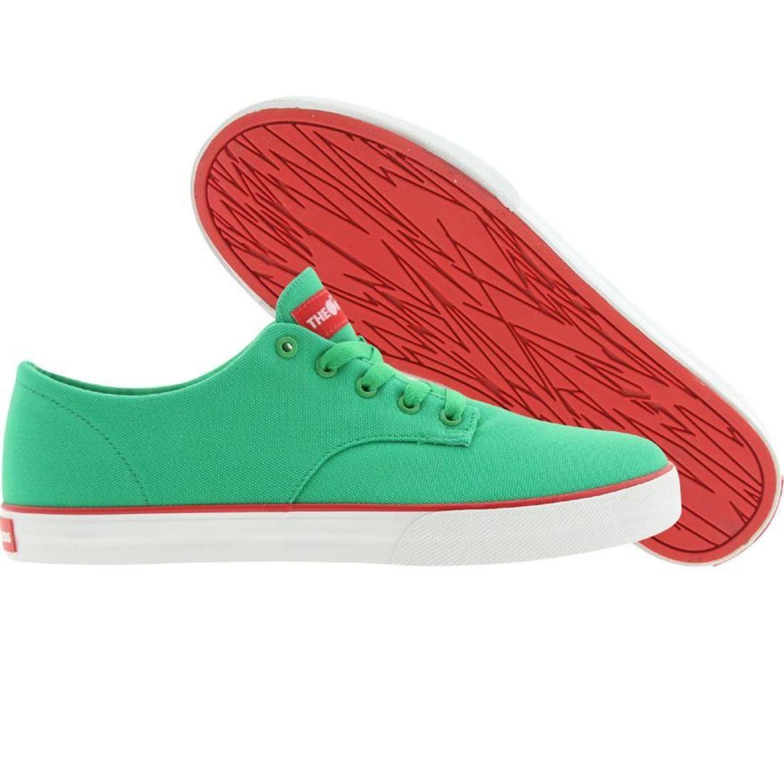 ジョンソン スニーカー メンズ 【 The Hundreds Johnson Low Canvas (green / Red) 】 Green / Red