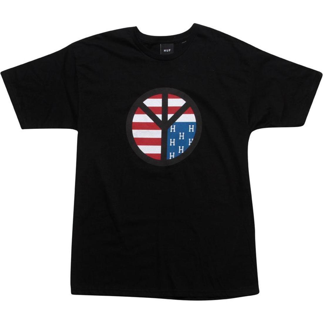【海外限定】ハフ ダウン Tシャツ カットソー トップス 【 HUF DOWN WITH PEACE TEE BLACK 】